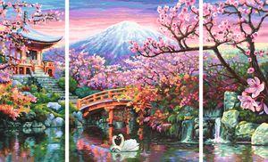 Noris Spiele Malen nach Zahlen - Kirschblüte in Japan (Triptychon); 609260751