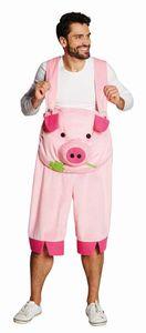 Schwein Latzhose Hose Trägerhose Karneval Fasching Kostüm S