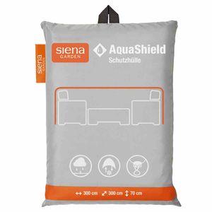 AquaShield Lounge-Schutzhülle quadratisch, 300x300xH70 cmZugband mit 2 Stoppern, Gummiband an 4 Ecken2x Active Air System