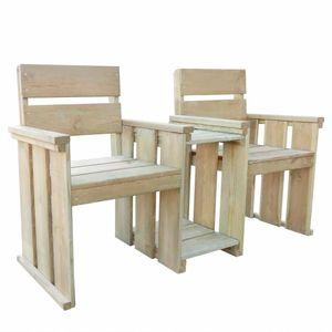 vidaXL 2-Sitzer-Gartenbank 150 cm Imprägniertes Kiefernholz