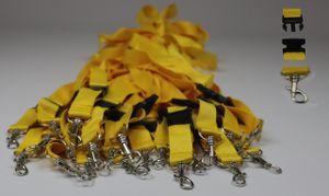 25x Schlüsselbänder Lanyard Keyholder Schlüsselband gelb 2 x 55cm mit Haken