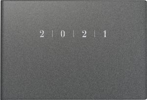 "rido idé Taschenkalender ""Septimus Reflection"" 2021 152 x 102 mm grau"