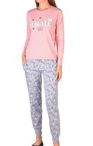 Damen Pyjama Set zweiteiliger Schlafanzug Hausanzug Nachtwäsche langarm  M