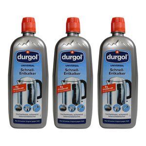 Durgol Universal Schnell-Entkalker für Geräte, Armaturen, Oberflächen, 3er Set, 3 x 750 ml