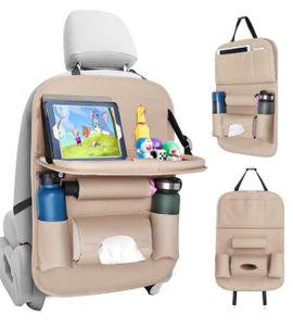 Auto Rückenlehnenschutz (1 Stück) Wasserdicht Autositz Organizer mit vielen Sack, Tablet/Telefon Aufbewahrung, Multifunktionale Auto Aufbewahrungstasche für Auto Ordentlich - Saflyse
