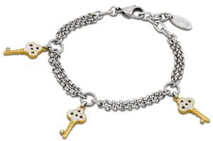 Damen Armband Lotus Style LS1530-2/2 Schlüssel Anhänger goldfarbig