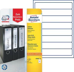 AVERY Zweckform Ordnerrücken Etiketten 34 x 192 mm weiß 80 Etiketten