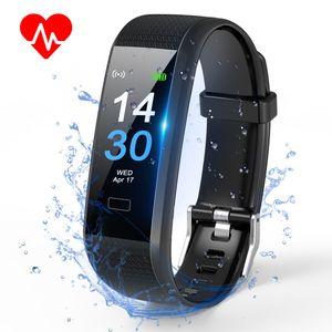 TOPLUS Fitness/Gesundheits Tracker Armband Smart Uhr Wasserdicht IP 68 Smartwatch Smartarmband für Aktivitätsmesser Kalorienverbrauch Pulsmesser Schrittzähler Verfolgung von iPhone/Android