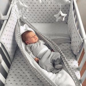 Baby Hängematte für Kinderbett Babywiege Babyhängematte Hängekorb Babyschaukel Baby Hang Bett - Grau