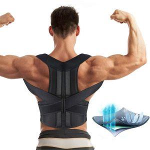 Unisex Rückenbandage Rückenhalter Haltungskorrektur Gürtel Rücken Stabilisator Büste Umfang(L/95-110cm)