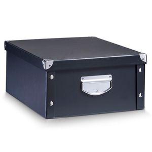 Zeller Aufbewahrungsbox, Pappe, schwarz 40x33x17