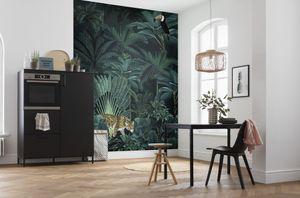 "Komar Vlies Fototapete ""Jungle Night"" - Größe: 200 x 250 cm (Breite x Höhe), 4 Bahnen"