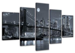 200 x 100 cm Bild auf Leinwand New York  USA 6314-VKF deutsche Marke und Lager  -   fertig gerahmt , exklusive Markenware von Visario