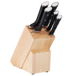 TEFAL K232S574 ICE FORCE Küchenmesser 6 tlg. Set Edelstahl Messer im Messerblock