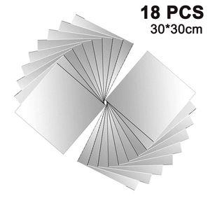 18 Stück Spiegelfliesen Spiegelkachel Fliesenspiegel Spiegel je  30 * 30 cm Wanddekoration Wandspiegel