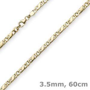 3,5mm Rockwellkette Kette Collier Halskette 585 Gold Gelbgold glänzend 60cm
