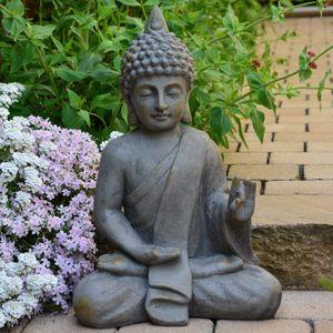 Garten Buddha  54cm Frost und wetterfest Skulptur Feng Shui Deko Statue
