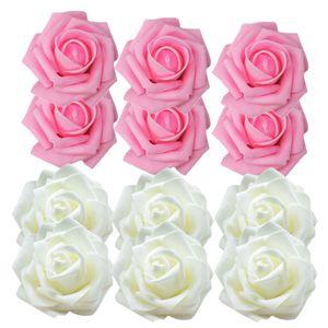 100pcs Schaum Rosen Künstliche Blumen Rosenköpfe