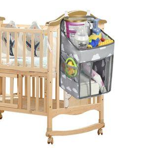 BettOrganizer Babybett Betttasche Antirutsch Nachttisch Tasche Hängeaufbewahrung