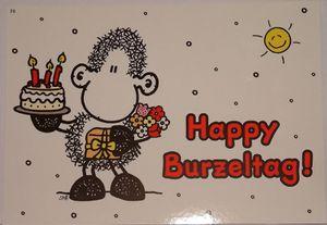 sheepworld - 50579 - Postkarte, Nr. 78, Geburtstag, Schaf, Happy Burzeltag!, Pappe