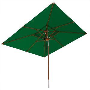 anndora Sonnenschirm Knicker 3 x 3 m eckig - mit Dreh-Kipp-Mechanismus Grün - Grün
