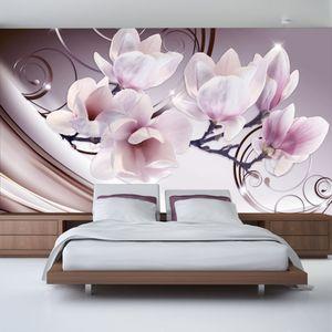Vlies Tapete  Top  Fototapete  Wandbilder XXL  400x280 cm  BLUMEN ABSTRAKT b-A-0222-a-c
