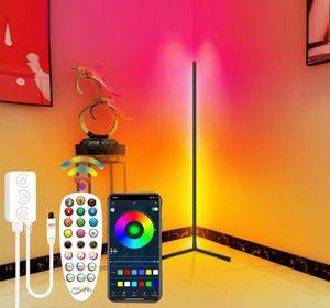 Smart LED Stehleuchte, RGB LED Stehlampe Dimmbar,mit Fernbedienung 20W Bluetooth Stehleuchte Mehrere Modi Synchronisierung mit Musik für Wohnzimmer Schlafzimmer