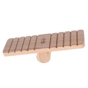 Hochwertig Wippe Holzspielzeug Brücke für Nager Hamster Mäuse Meerschweinchen, 7.48x2.76x1.97Zoll