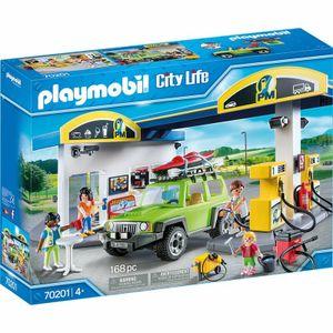 Playmobil City Life 70201 Große Tankstelle