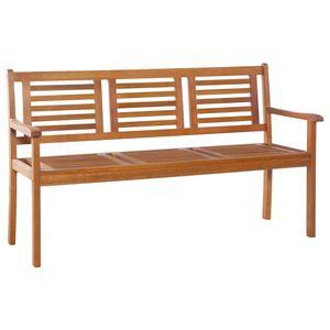 dereoir 3-Sitzer Gartenbank 150 cm Eukalyptus Massivholz