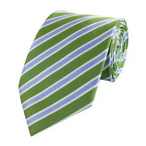 Schlips Krawatte Krawatten Binder 8cm grün blau weiß gestreift Fabio Farini