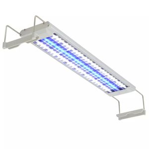vidaXL Aquarium LED-Lampe 50-60 cm Aluminium IP67