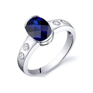 Blaue Saphir-Ring 1,75 cts und 925-Sterling-Silber  8 - APT 5005 P Blue Pearls