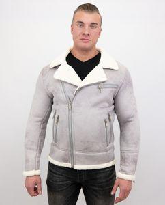 Jacke Mit Kunstfell - Lammy Coat - Grau - L