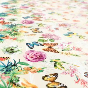 Schmetterlinge Beige Wiese 100x140cm Wachstuch Tischdecke