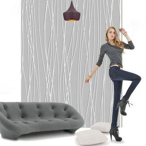 53cm x 9.5m Vliestapete 3D Optik Vlies Tapete Barock Wandtapete Wandbild TV Hintergrund Tapete Streifen Einfache moderne