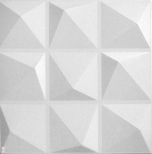 3D Wandpaneele Wandverkleidung Deckenpaneele Platten Paneele Pyramide Weiß Polystyrol XPS (0,25qm)