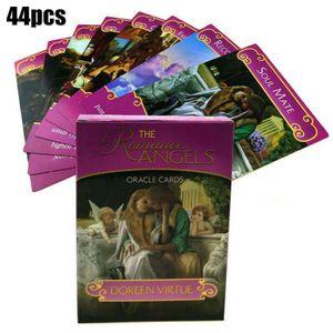 44 Stück Tarot Karten Romance Angel Oracle Karten Cards Tarotkarten Kartenspiel Familienspiel für Party