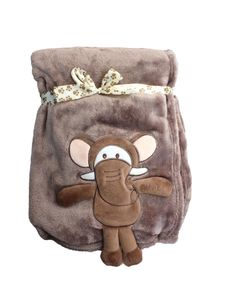 superweiche Babydecke besonders kuschelig 100x75cm, Modell:grau - Elefant