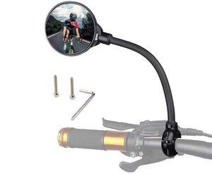 Fahrradspiegel für Lenker 22-32mm, 360° Flexibel Konvex MBT Fahrrad Rückspiegel 3D Weitwinkel Rund Ebike Spiegel, Links&Richtig Universal Fahrrad Spiegel für Mountainbike/Mofa/Rennräder - 1Stück