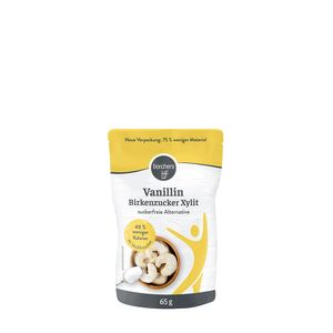 borchers Vanillin Birkenzucker   mit Xylit   zuckerfreie Alternative   im praktischen Beutel   65g