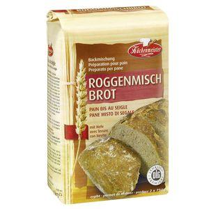 Küchenmeister Backmischung Roggenmischbrot 1kg für zwei Brote je 750g