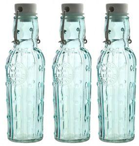 3 Glasflaschen 1000ml mit Bügelverschluss und Silkionring