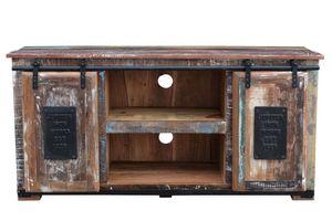 Sit Möbel Lowboard JUPITER Altholz   L 130 x B 40 x H 63 cm   natur, bunt   11321-98   Serie JUPITER