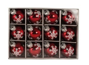 12 Weihnachtskugeln Rot Ø 3 cm Glas Kugeln Weihnachten Christbaumschmuck