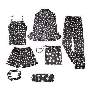 7Stücke / Set Damen Pyjama Set Größe XXL