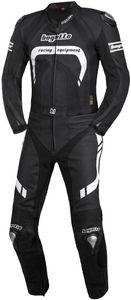 Bogotto Assen 2-Teiler Motorrad Lederkombi Grösse: 46, Farbe: Schwarz/Weiß