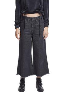 Urban Classics Ladies Denim Culotte TB2367, color:black washed, size:S