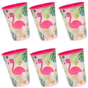 Flamingo Hawaii Kunststoff Becher 6 Stück