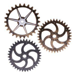 3pcs Steampunk Gear Industrial Style Für Zuhause Hängen Kunsthandwerk Dekorativ
